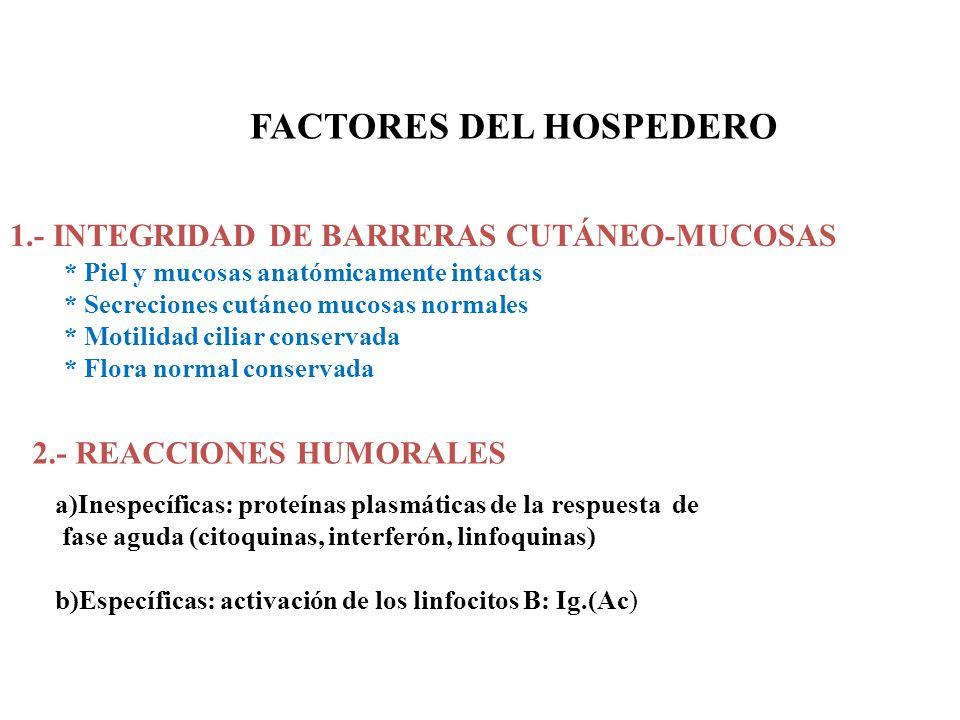 FACTORES DEL HOSPEDERO