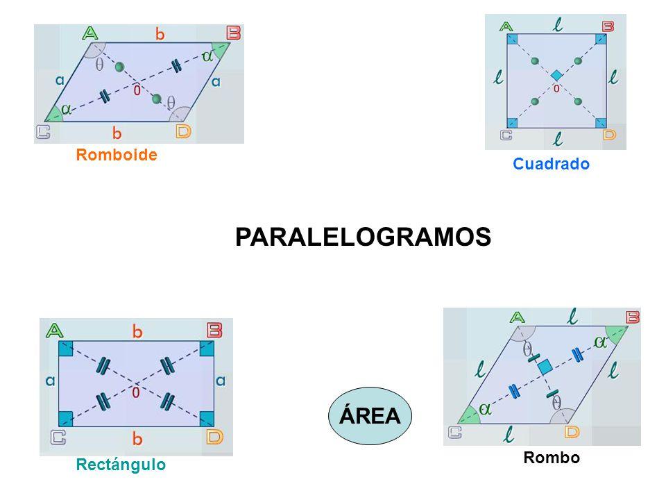 Romboide Cuadrado PARALELOGRAMOS ÁREA Rombo Rectángulo