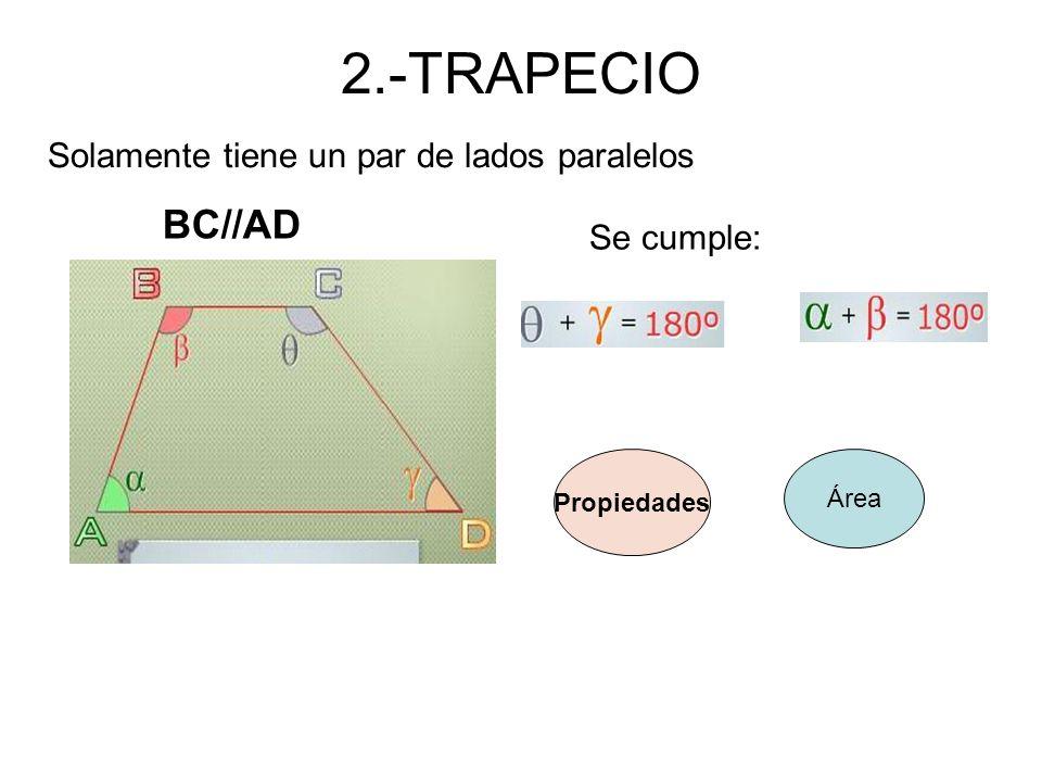 2.-TRAPECIO BC//AD Solamente tiene un par de lados paralelos