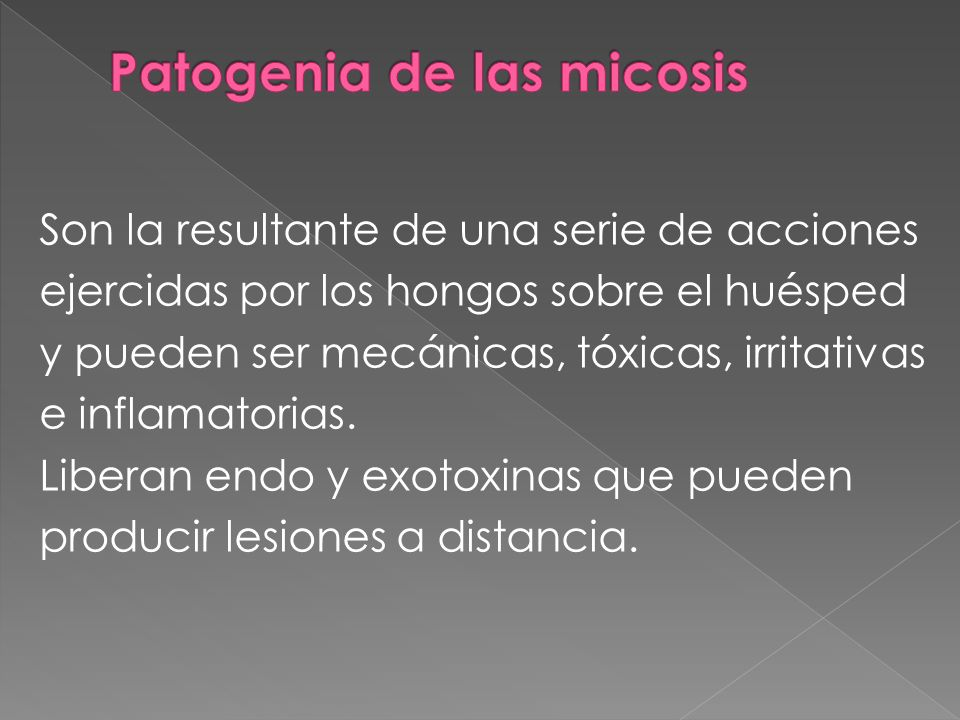 Patogenia de las micosis