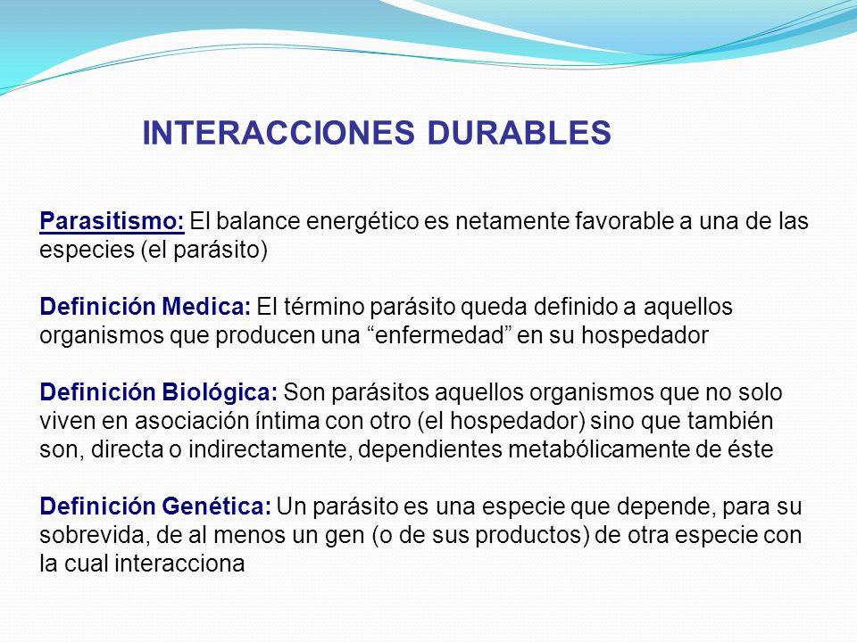 INTERACCIONES DURABLES