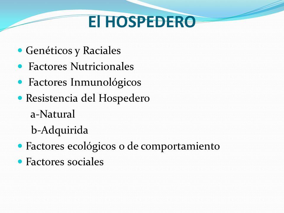 El HOSPEDERO Genéticos y Raciales Factores Nutricionales