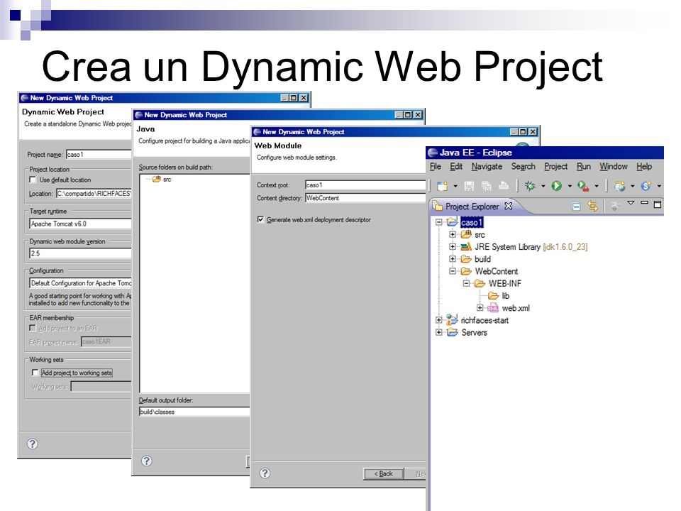 Crea un Dynamic Web Project