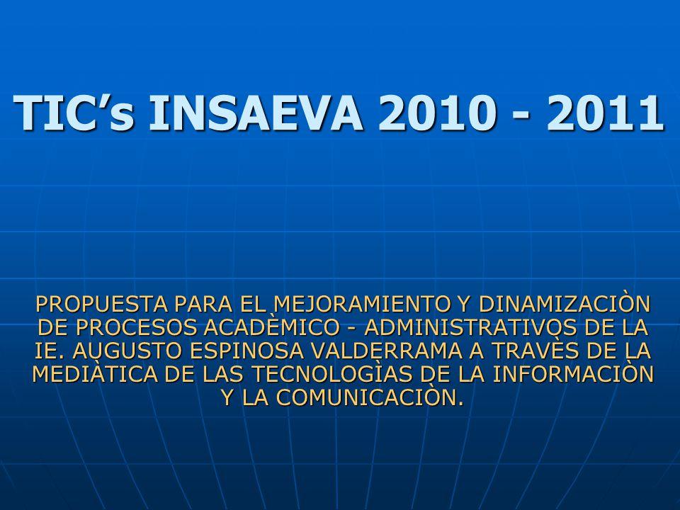 TIC's INSAEVA 2010 - 2011