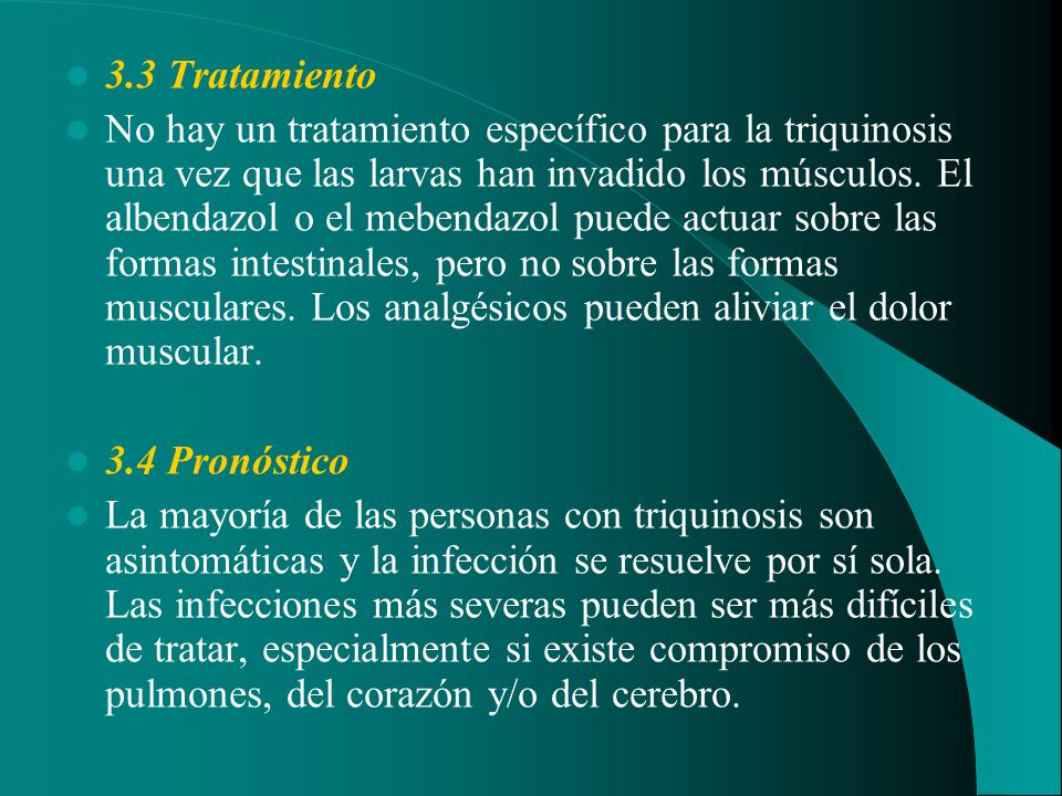 3.3 Tratamiento