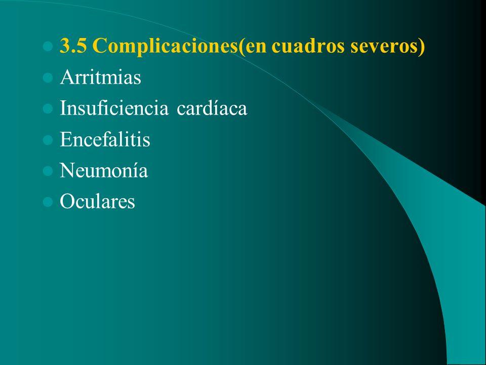 3.5 Complicaciones(en cuadros severos)