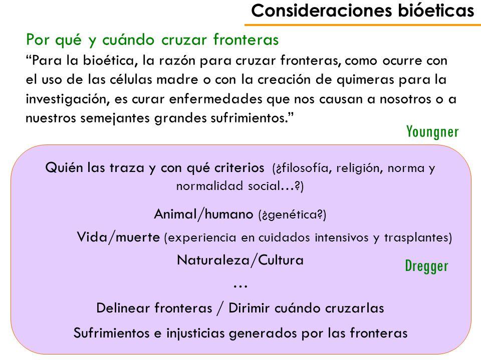 Consideraciones bióeticas