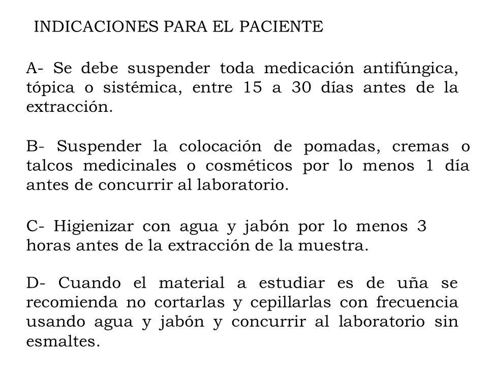 INDICACIONES PARA EL PACIENTE