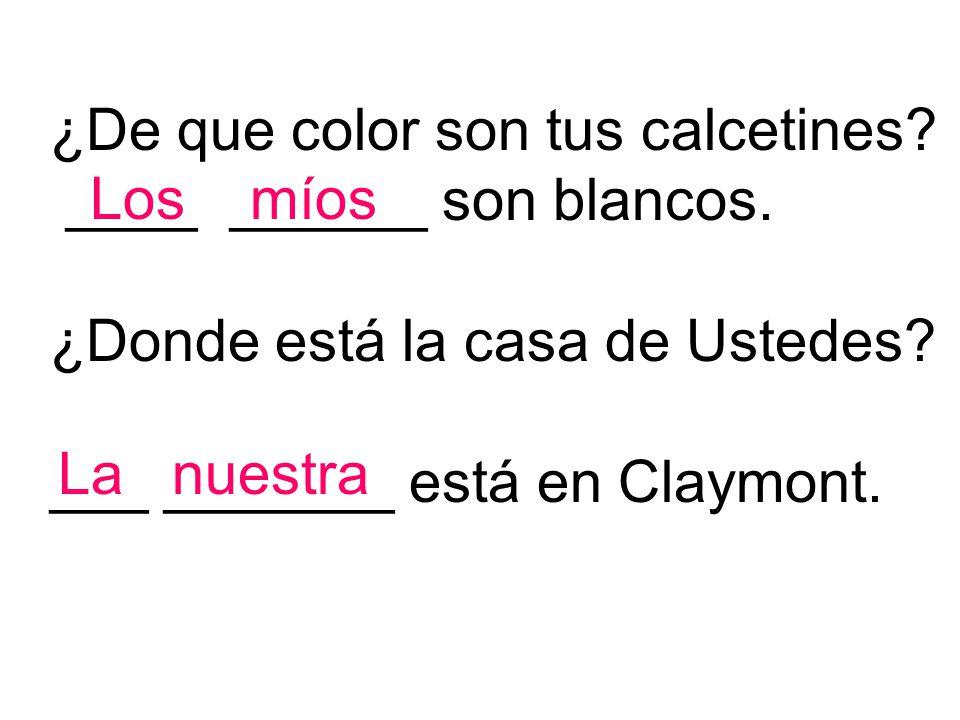 ¿De que color son tus calcetines