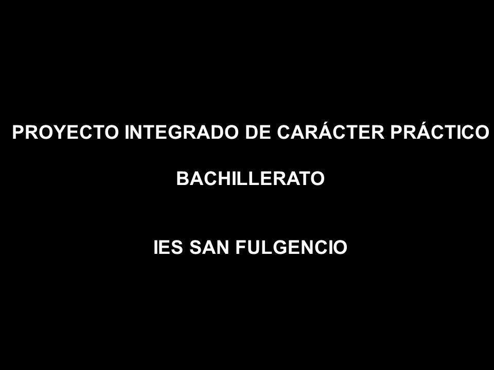 PROYECTO INTEGRADO DE CARÁCTER PRÁCTICO