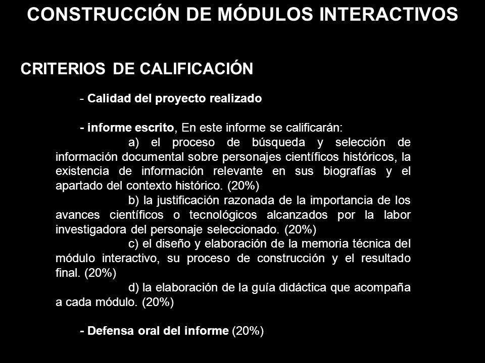 CONSTRUCCIÓN DE MÓDULOS INTERACTIVOS