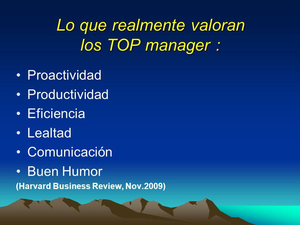 Lo que realmente valoran los TOP manager :