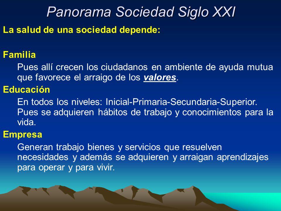 Panorama Sociedad Siglo XXI