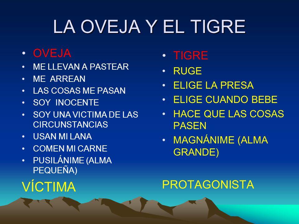 LA OVEJA Y EL TIGRE VÍCTIMA OVEJA TIGRE PROTAGONISTA RUGE