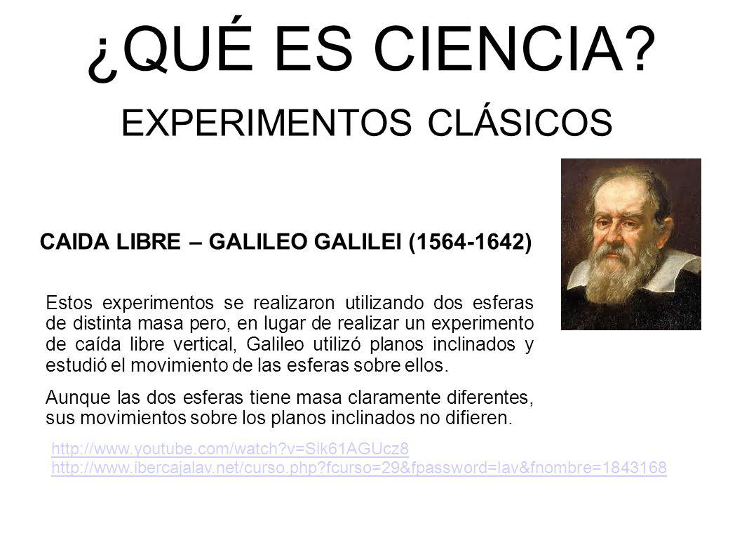 EXPERIMENTOS CLÁSICOS