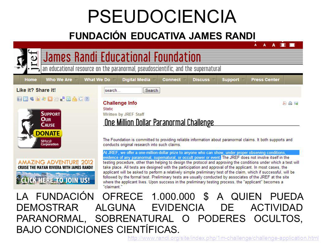 PSEUDOCIENCIA FUNDACIÓN EDUCATIVA JAMES RANDI