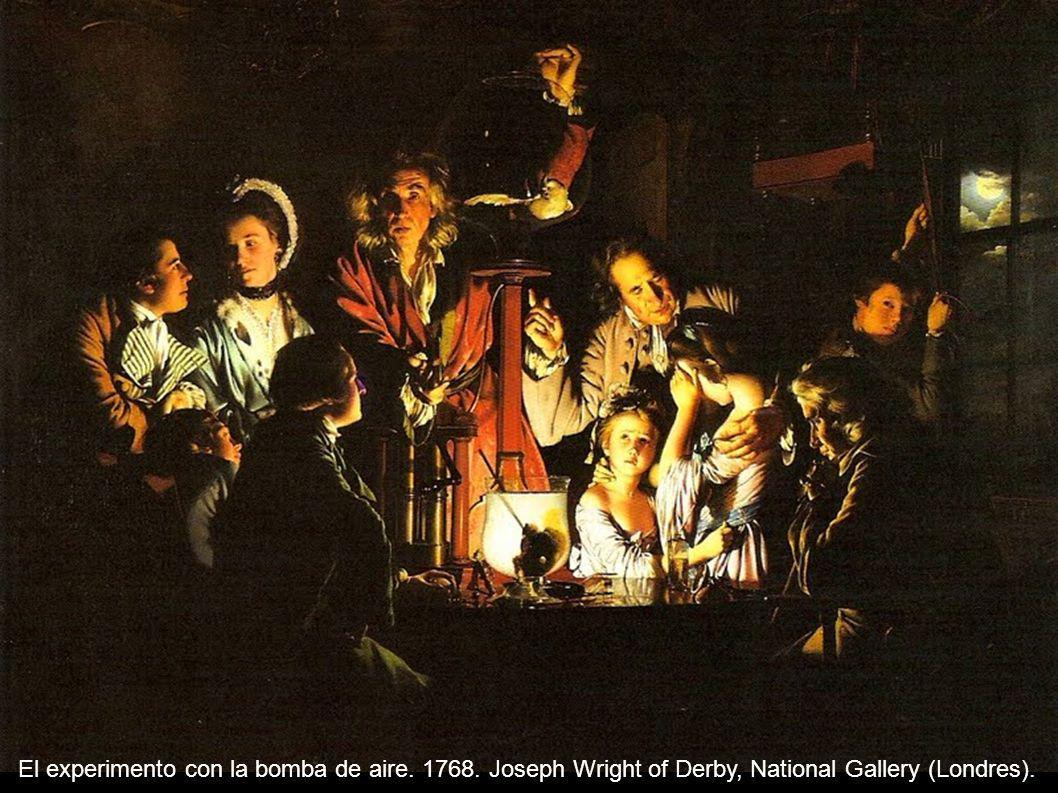 El experimento con la bomba de aire. 1768