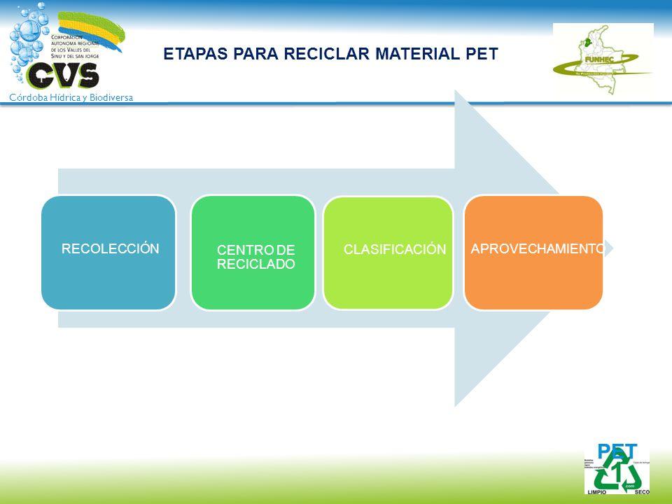 ETAPAS PARA RECICLAR MATERIAL PET