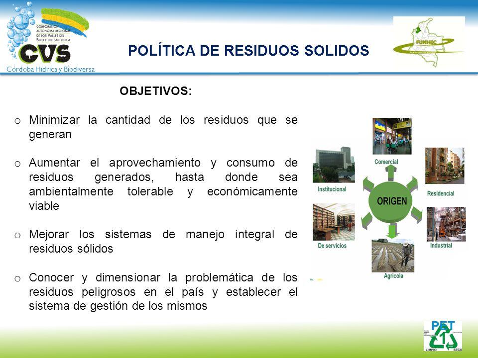 POLÍTICA DE RESIDUOS SOLIDOS
