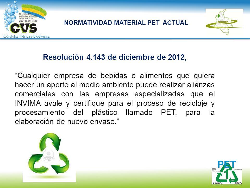 Resolución 4.143 de diciembre de 2012,