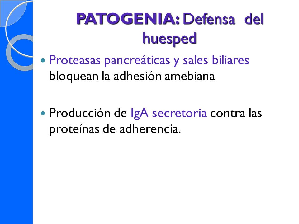 PATOGENIA: Defensa del huesped