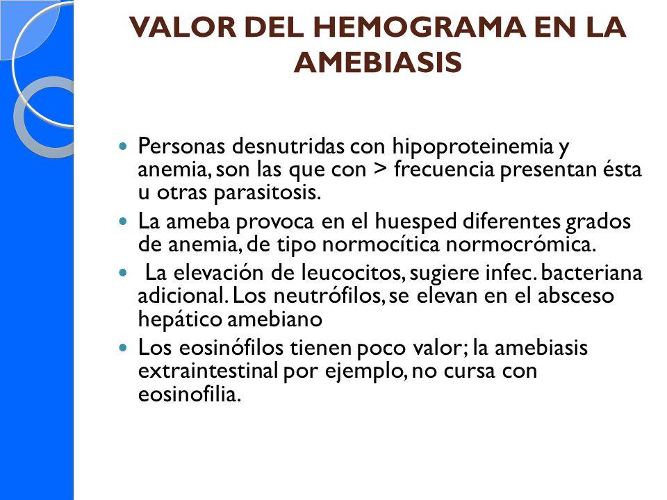 VALOR DEL HEMOGRAMA EN LA AMEBIASIS
