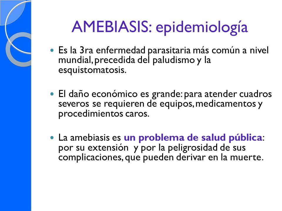 AMEBIASIS: epidemiología