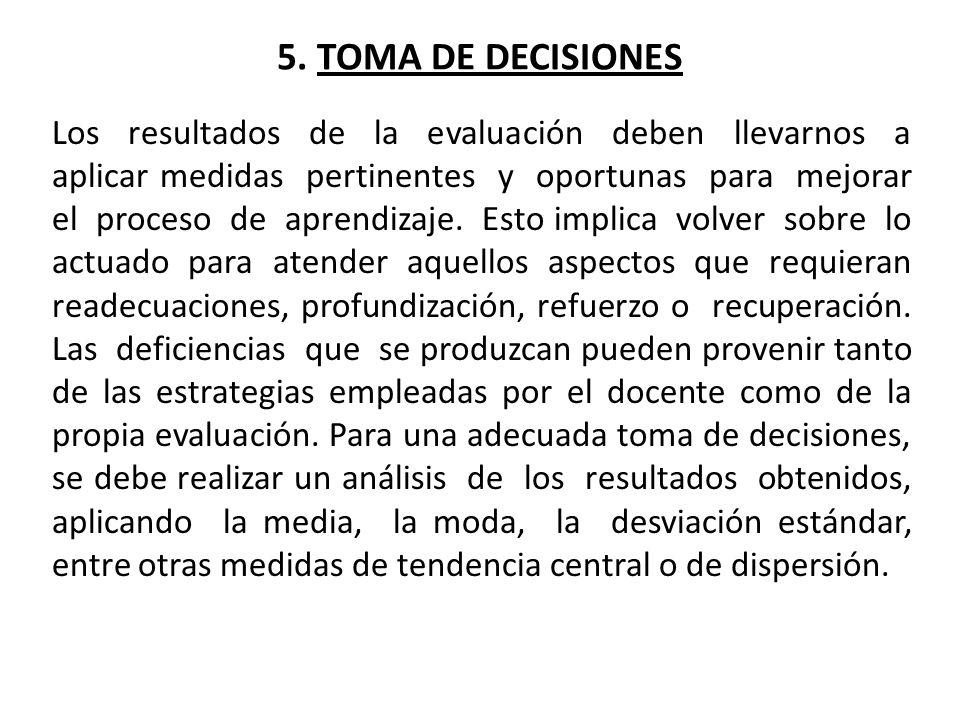 5. TOMA DE DECISIONES