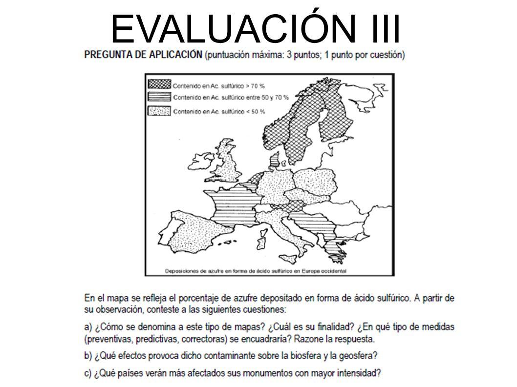 EVALUACIÓN III