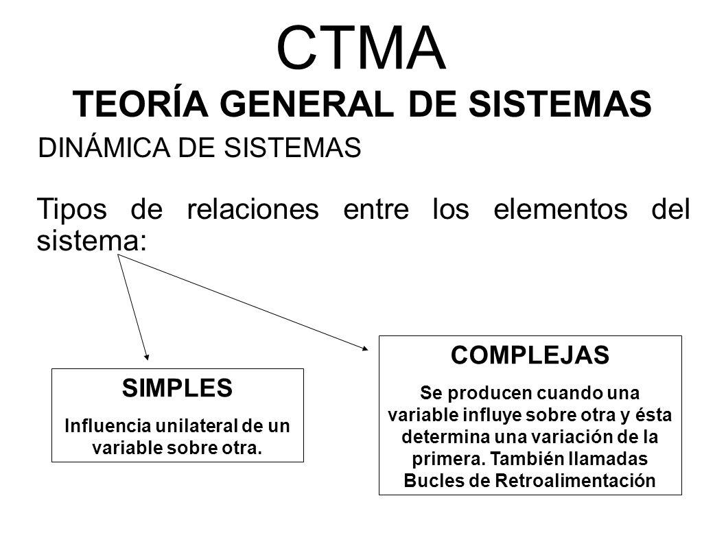 CTMA TEORÍA GENERAL DE SISTEMAS