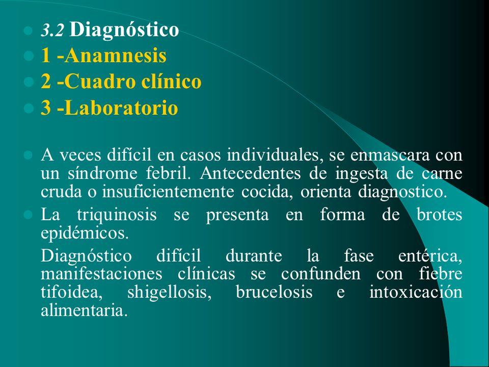 1 -Anamnesis 2 -Cuadro clínico 3 -Laboratorio 3.2 Diagnóstico