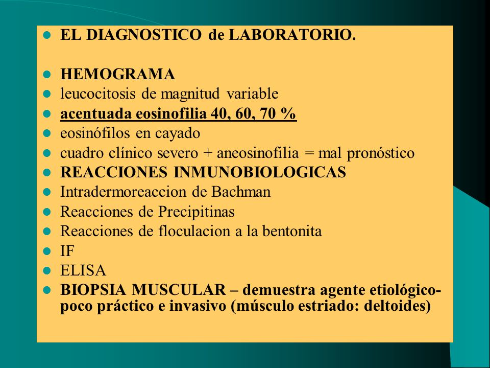 EL DIAGNOSTICO de LABORATORIO.