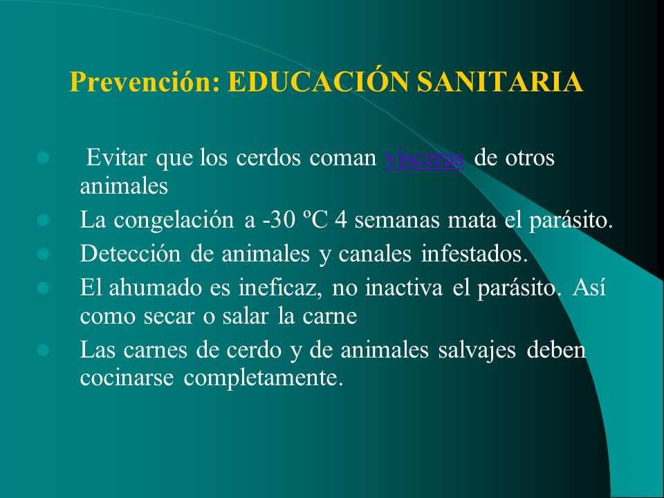 Prevención: EDUCACIÓN SANITARIA