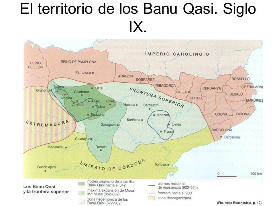 El territorio de los Banu Qasi. Siglo IX.