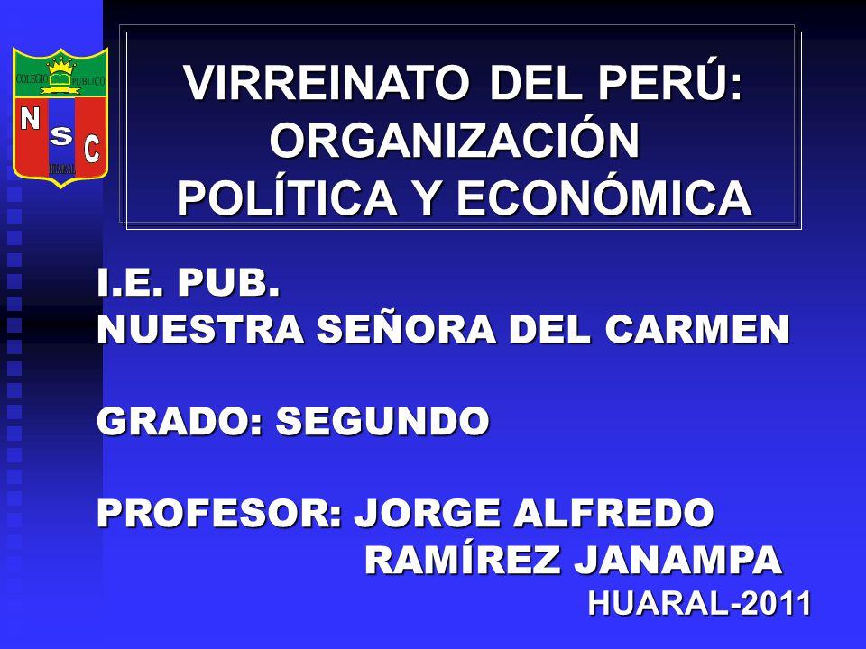 VIRREINATO DEL PERÚ: ORGANIZACIÓN POLÍTICA Y ECONÓMICA