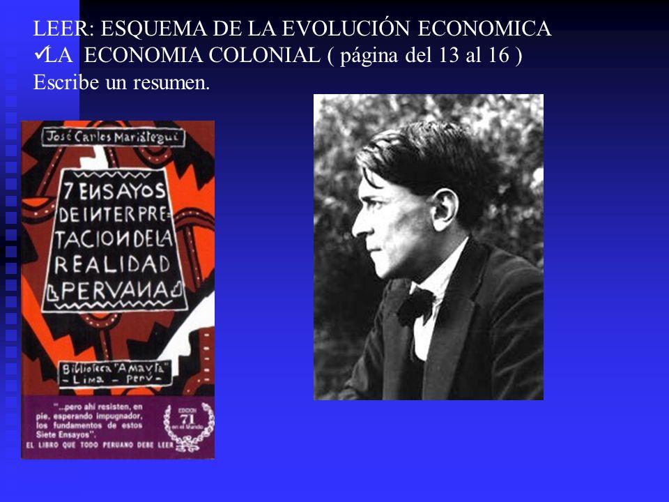 LEER: ESQUEMA DE LA EVOLUCIÓN ECONOMICA