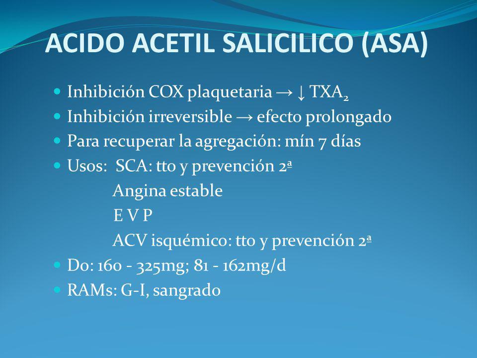 ACIDO ACETIL SALICILICO (ASA)