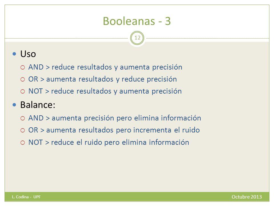Booleanas - 3 Uso Balance:
