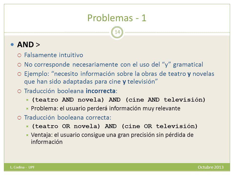 Problemas - 1 AND > Falsamente intuitivo