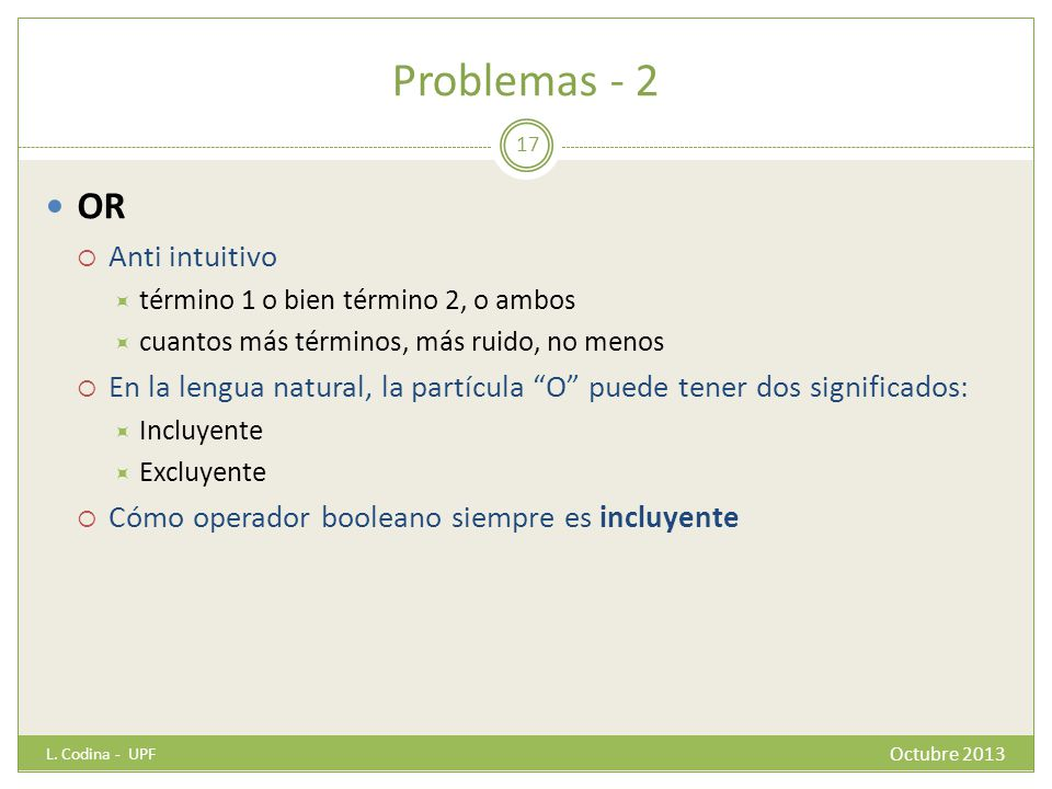 Problemas - 2 OR Anti intuitivo