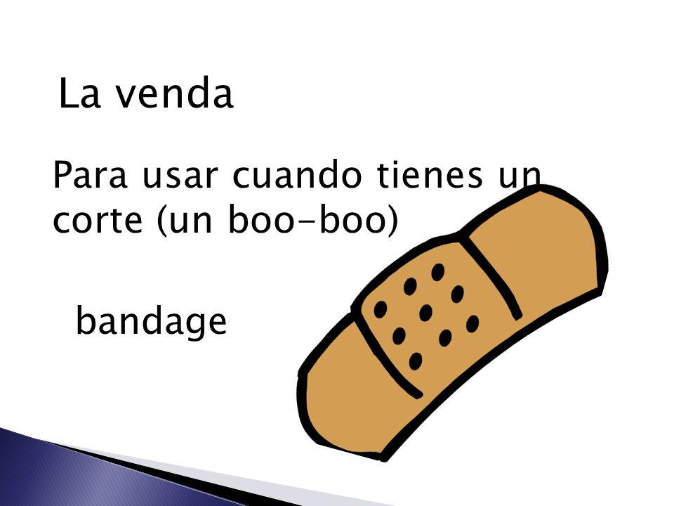 La venda Para usar cuando tienes un corte (un boo-boo) bandage