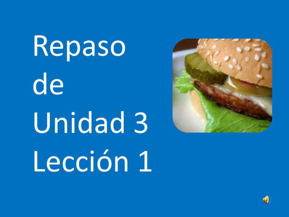 Repaso de Unidad 3 Lección 1 Audience: A 7th grade Spanish class.