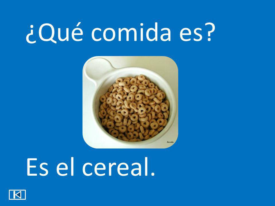 ¿Qué comida es Es el cereal.