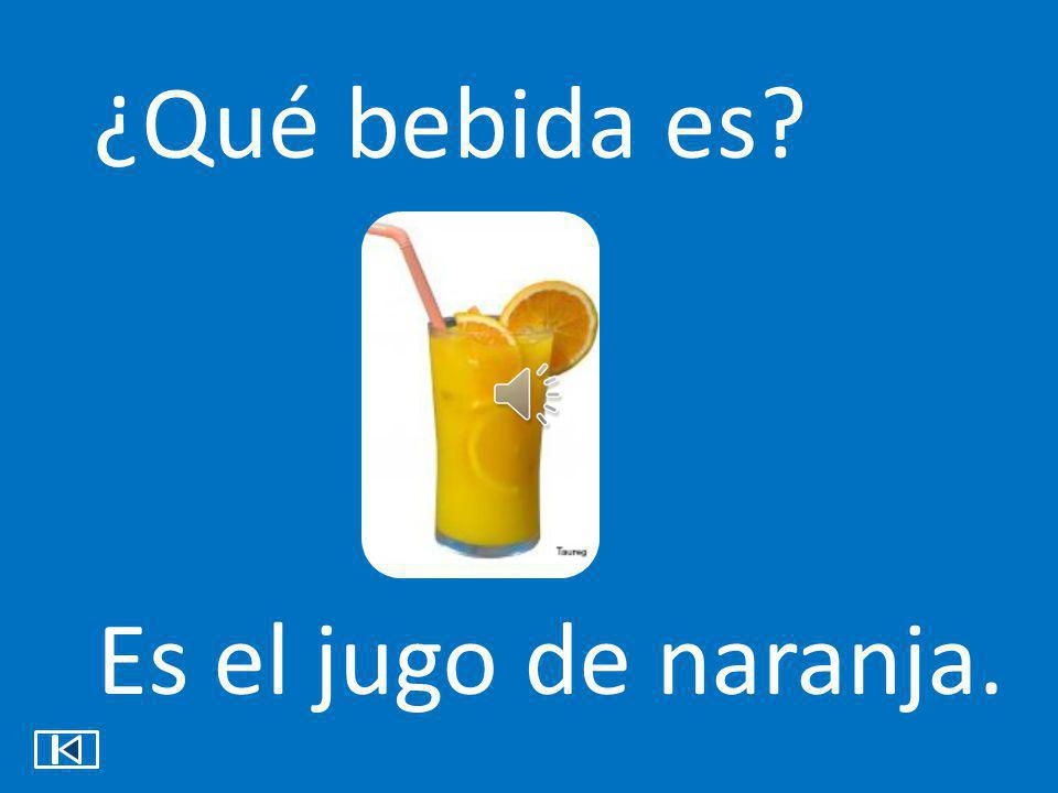 ¿Qué bebida es Es el jugo de naranja.