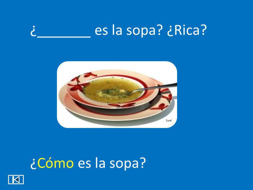 ¿_______ es la sopa ¿Rica