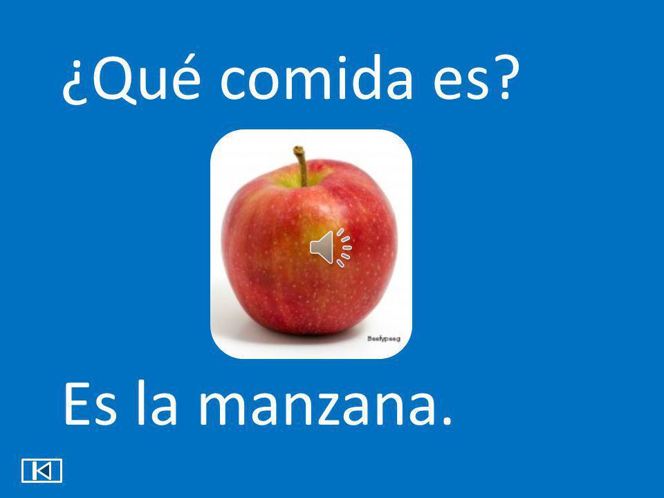 ¿Qué comida es Es la manzana.