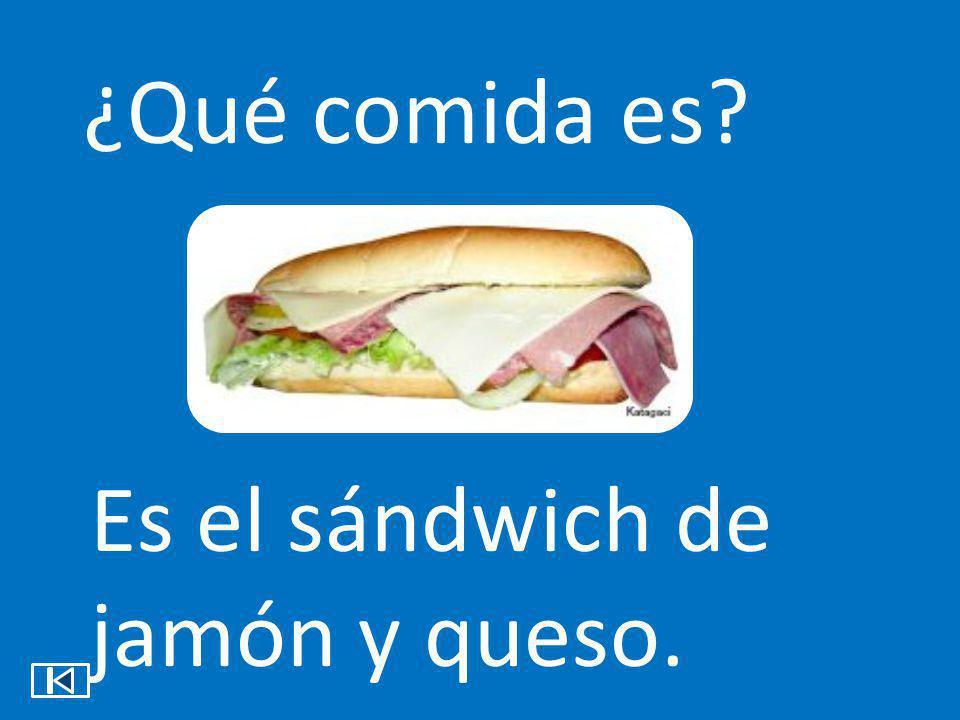 ¿Qué comida es Es el sándwich de jamón y queso.