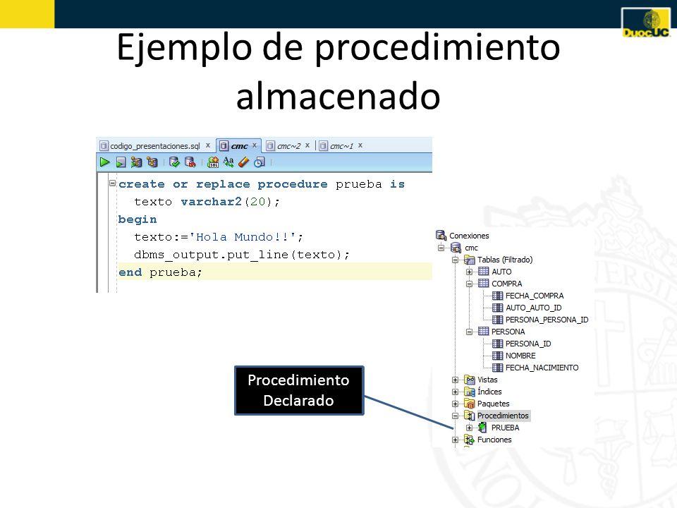 Ejemplo de procedimiento almacenado