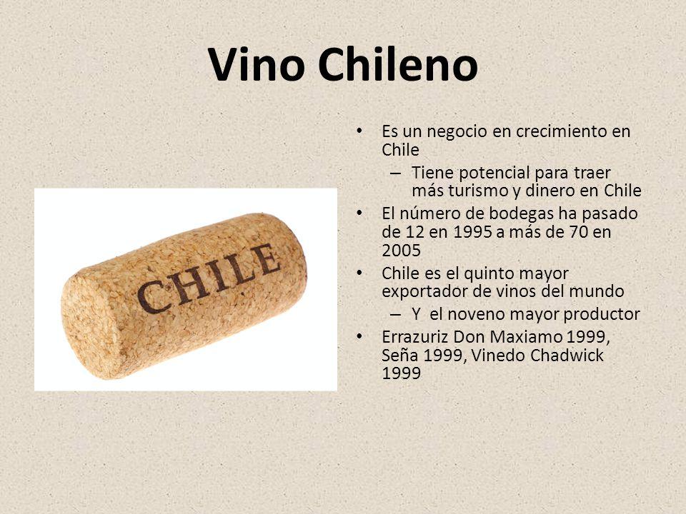 Vino Chileno Es un negocio en crecimiento en Chile