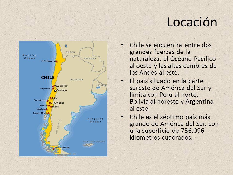 Locación Chile se encuentra entre dos grandes fuerzas de la naturaleza: el Océano Pacífico al oeste y las altas cumbres de los Andes al este.
